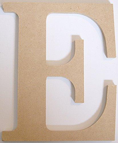 "Pressed Wood Initials Wall Decor - 8"" Classic E - 1"