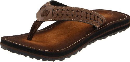 Clarks Women's Plymouth Flip Flop,Brown,8 M US