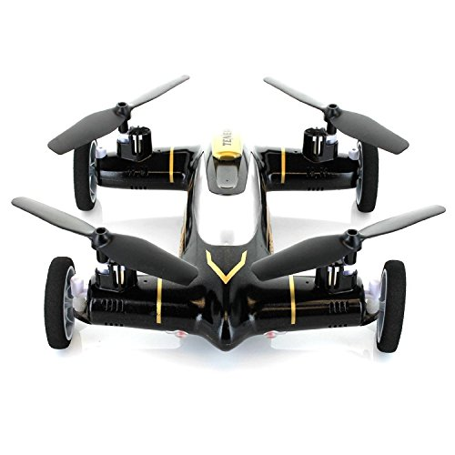 Yanni Syma X9 Flying Quadcopter Car 2.4Ghz 4CH RC Quadcopter Drone Car + 2 Extra Batteries(Black)