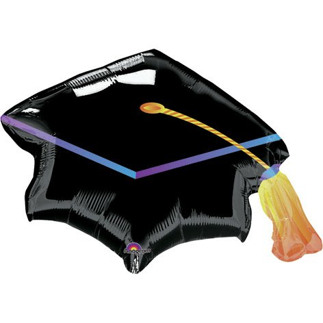 Graduation Cap Mylar Balloon