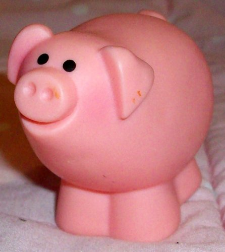 Picture of Mattel Fisher Price Little People Pink Barn Pig Replacement Figure Doll Toy (B00258DNZO) (Mattel Action Figures)