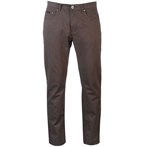 Pierre Cardin-Pantaloni 5Tasche Chino pantaloni Chino il tempo libero Plastica da uomo cotone Charcoal W30