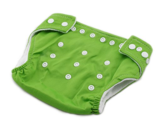 New Adjustable Size Unisex Reusable Baby Girl Boy Washable Cloth Nappy Diaper Green