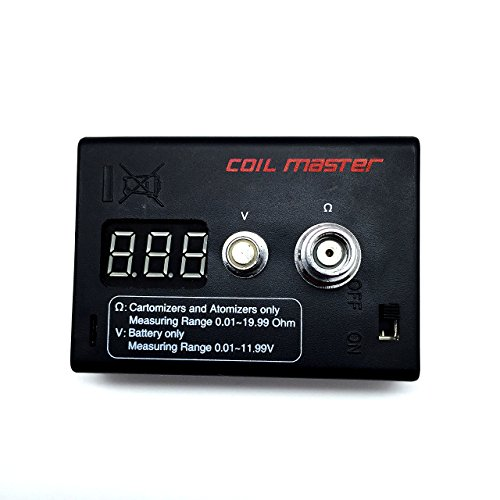 The Original Authentic Coil Master 2-in-1 Ohm Meter and Volt Meter Reader Tester with Authenticity Scratch Code and Authentic Japanese Organic Cotton by InnoVaper (Vapor Ohm compare prices)