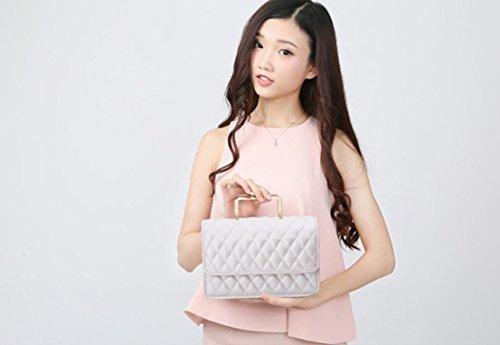 GQQ NUOVE borse a tracolla borse moda PU Dacron per Shopping Party e borsa lavoro GQ @ , white