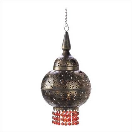 Gifts & Decor Mystic Moroccan Hanging Tealight Candle Lantern Lamp