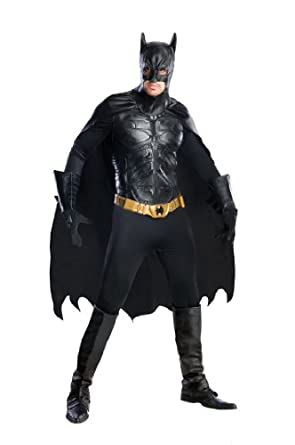 Rubie's Costume Co Batman Dark Knight Rises Grand Heritage Deluxe Batman, Black, Large