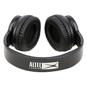 buy altec lansing mzw300 blk on ear headphones black online at low prices i. Black Bedroom Furniture Sets. Home Design Ideas