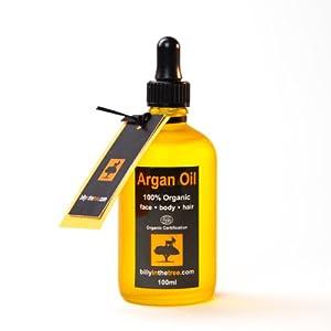 Pure Argan Oil. 100% Organic. 100ml. For Face Body Hair Nails