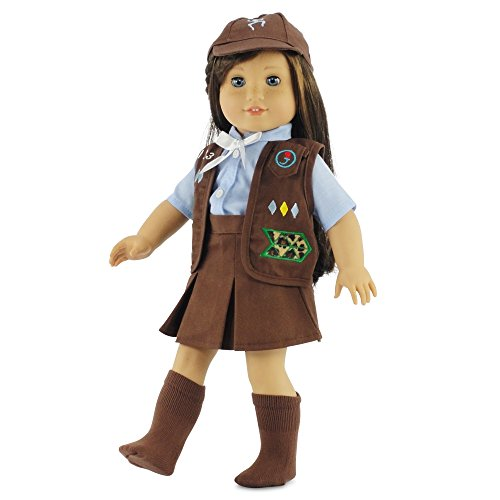 18-Inch-Doll-Clothes-Like-Brownie-Girls-Club-Outfit-Fits-18-American-Girl-Dolls-Gift-boxed