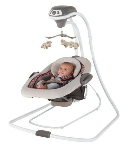 New 2 In 1 Innovative Design Of Graco Duetconnect Lx Infant Baby Swing & Bouncer