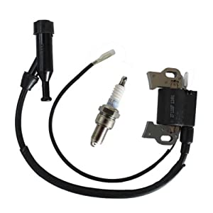New Pack of Spark Plug + Ignition Coil fit for Honda Gx240 Gx270 Gx340 Gx390 8hp 9hp 11hp 13hp Engine Generator