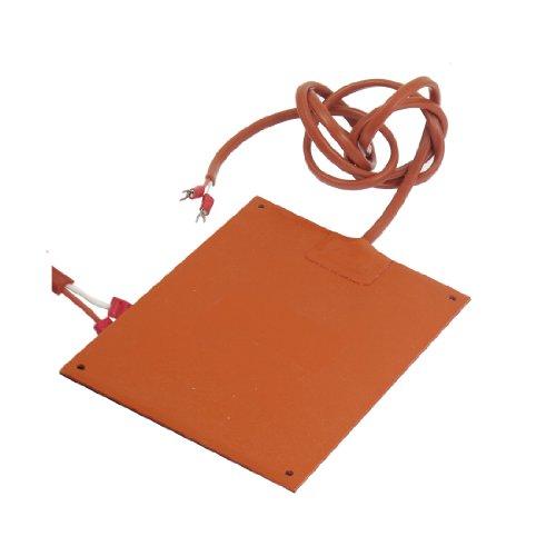 Orange Red Silicone Rubber Heating Heater 100W 220V 185Mmx120Mm