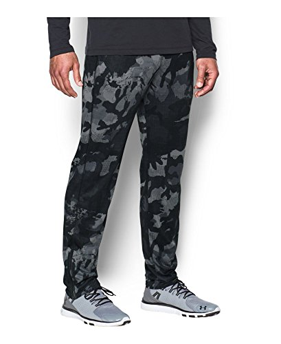 Under Armour Men's Tech Printed Pants, Black (001), Large