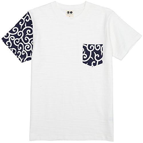 (ブーテンショウテン)BUDEN SHOTEN 豊天商店 袖唐草ポケット付 半袖Tシャツ BU1152057  94藍 L