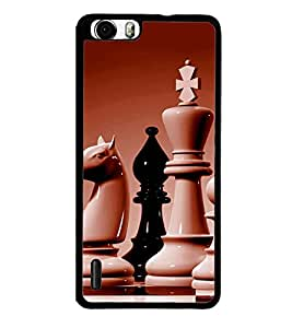 printtech Chess Play Back Case Cover for Huawei Honor 6 ,Versions: - H60-L01 TDD LTE (Single SIM) - H60-L02 FDD&TDD LTE, HSDPA - H60-L04 FDD&TDD LTE, HSDPA (Single SIM) - H60-L12 FDD LTE, HSDPA, NFC - H60-L12 FDD LTE, NFC