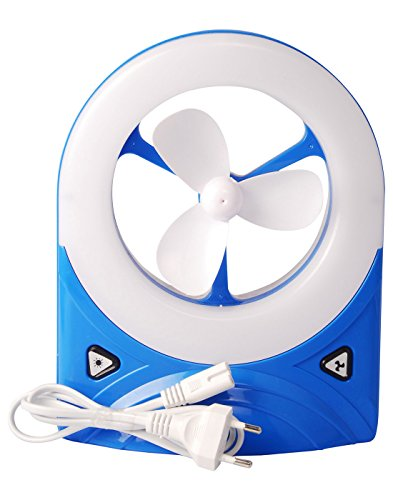 Bazaar Pirates Emergency Light (With Fan Rechargeable )