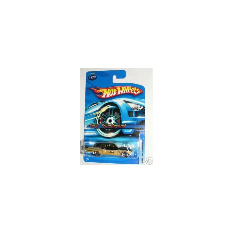 Mattel Hot Wheels 2005 164 Scale Black & Gold Ford Thunderbolt Die Cast Car #173