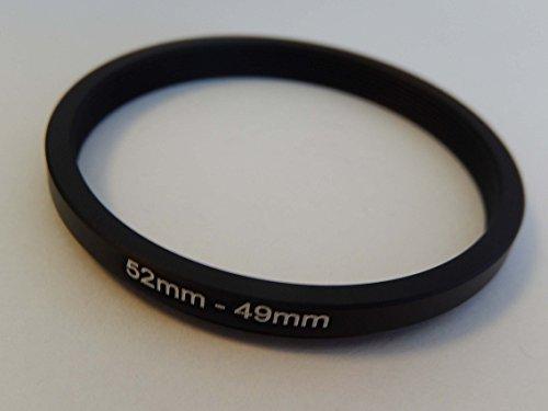 vhbw Step UP Filter-Adapter 52mm-49mm schwarz für Kamera Panasonic, Pentax, Ricoh, Samsung, Sigma, Sony, Tamron