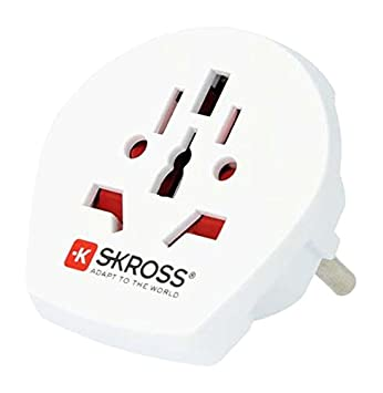 Skross World To Europe Adapter (White) at amazon