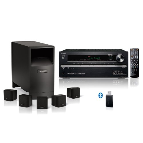 Bose Acoustimass 6 Iii And Onkyo 5.1-Channel Home Theater Bundle