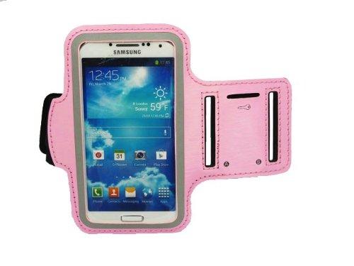 Slim Fit Light Pink Courir Brassard couverture de cas pour Samsung Galaxy i9500 S4 SIV