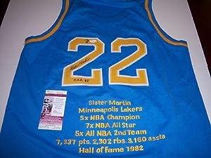 Slater Martin Signed Jersey - texas Longhorns hof Jsa coa - Autographed NBA Jerseys by Sports+Memorabilia