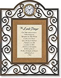 The Lord\'s Prayer Table Clock Framed Table Clock Christian Verses Paper