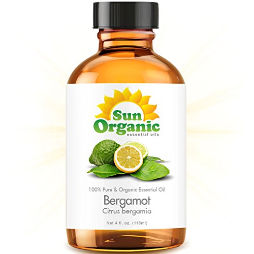 Bergamot - Large 4 Ounce - Organic, 100% Pure Essential Oil (Best 4 Fl Oz / 118Ml) - Sun Organic
