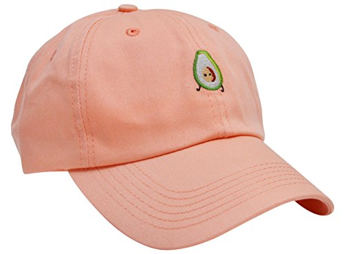 Skyed Apparel AVOCADO Embroidery Adjustable Baseball Cap Hat (Guava) (Kc Company Smash compare prices)