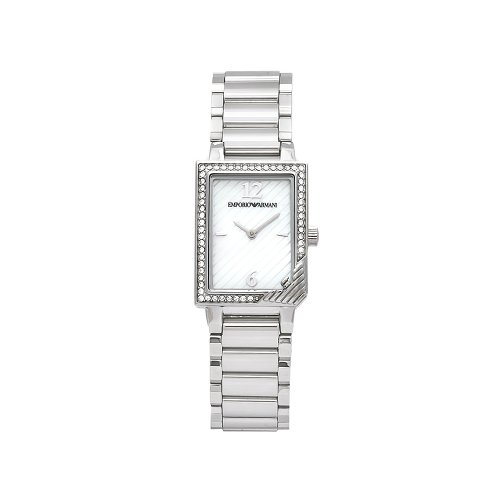 Emporio Armani Women's AR0758 Classic Crystal Accent Mother-Of-Pearl Dial Watch