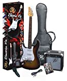 SX RST 3/4 LH 3TS Left Handed Short Scale Guitar Package with Amp, Carry Bag and Instructional DVD