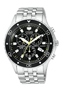 Citizen #BL5290-59E Men's Eco-Drive Perpetual Calendar Alarm Chronograph Watch