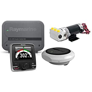 RAYMARINE RAY-T70154 / EV-100 p70r Power Pilot Pack, MFG# T70154, consists of EV-1 sensor, ACU-100, p70r control head, and 0.5L hydralic pump. For use on small hydralic steered power boats with 7,000 lb. max displacement.