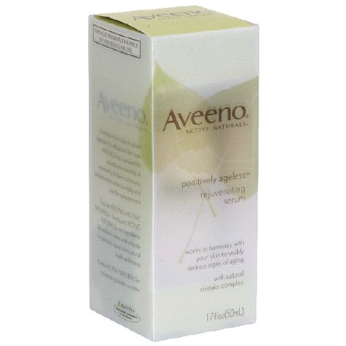 Aveeno Active Naturals Positively Ageless Rejuvenating Serum with Natural Shiitake Complex, 1.7 Ounce Bottle