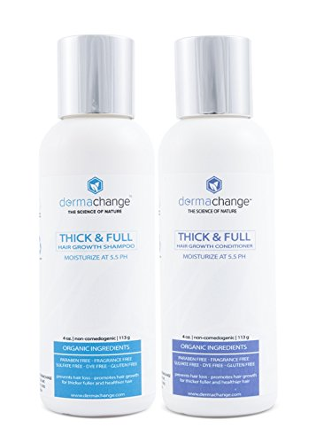 Organic Hair Growth Organic Shampoo and Conditioner Set - Volumizing and Moisturizing - Sulfate Free - Hair Regrowth With Vitamins - Stop Hair Loss - Color Treated or Curly Hair - For Woman and Men (Organic Growth compare prices)