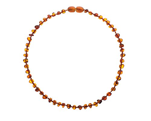 Baltic-Amber-Teething-Necklace-For-Babies-Unisex-Cognac-Anti-Flammatory-Drooling-Teething-Pain-Reduce-Properties-Natural-Certificated-Oval-Baltic-Jewelry-with-the-Highest-Quality-Guaranteed-Easy-to-Fa