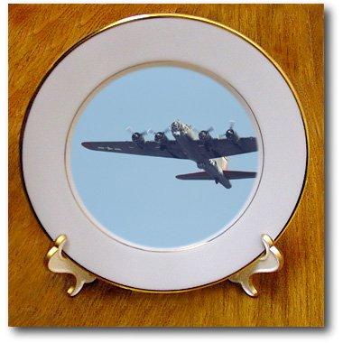 cp_97120_1 Danita Delimont - War Planes - B-17 G Flying Fortress, War plane - US50 BFR0041 - Bernard Friel - Plates - 8 inch Porcelain Plate