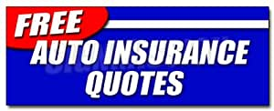 """24"""" FREE AUTO INSURANCE QUOTES DECAL sticker car motorcycle homeowner geico save"""