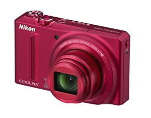 Nikon S9100 Coolpix Digital Camera - Red (12MP, 18x Optical Zoom) 3-inch LCD