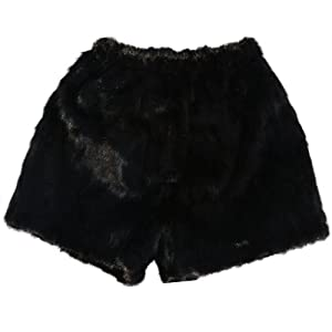 Amazon.com: MinkgLove Black Mink Fur Underwear Boxer ...