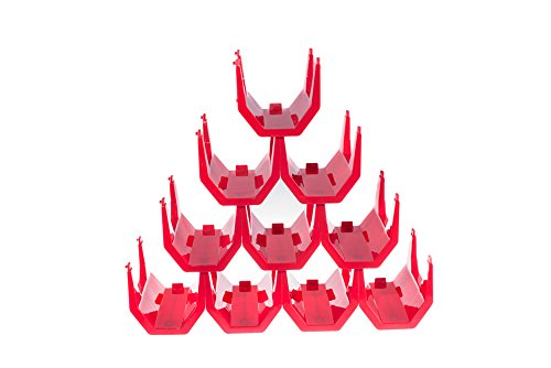 Premium Red Plastic Stackable Wine Rack - Pack of 10 Wine Racks (Chef Wine Rack compare prices)
