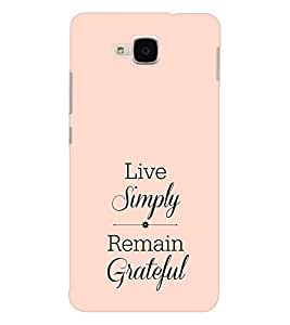 EPICCASE simple life Mobile Back Case Cover For Huawei Honor 5c (Designer Case)