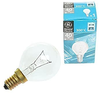 Qualtex Long Lasting Universal Cooker Oven Light Bulb Lamp E14 40w 300 Degree