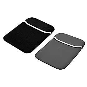 Reversible Double Sided Neoprene Sleeve Carrying Case for Compatible with Garmin nСЊvi 200w 250w 260w 580 660 670 680 710 750 760 770 850 4.3-Inch Widescreen Bluetooth Portable GPS Navigator (GPS Not Included) , Black / Grey