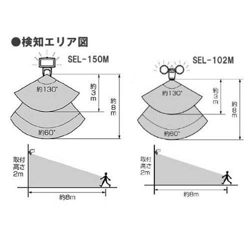 アイリスオーヤマ  センサーライト SEL-150M ブラック SEL150M