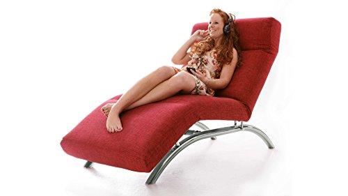 Relax-Liege-kirschroter-Bezug-verchromtes-Gestell-gnstig