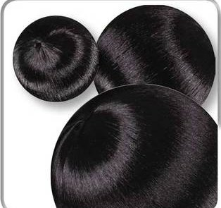 Seidenbälle Set 8-tlg. schwarz, Tischdeko schwarz, Deko für Hochzeit schwarz, Tischdekoration, Dekobälle schwarz