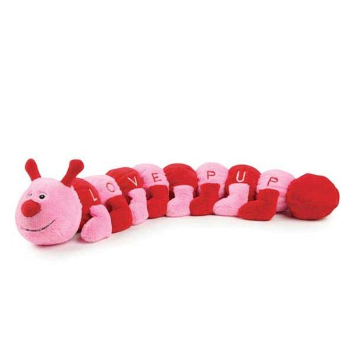 Valentines Day Caterpillar Dog Toy