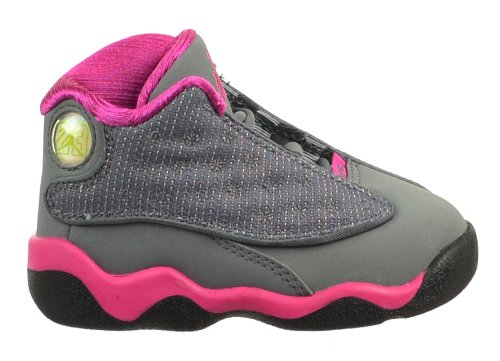 Jordan 13 Retro (TD) Baby Toddler Shoe Cool Grey/Fusion Pink-White Cool Grey/Fusion Pink-White 414581-029-7.5